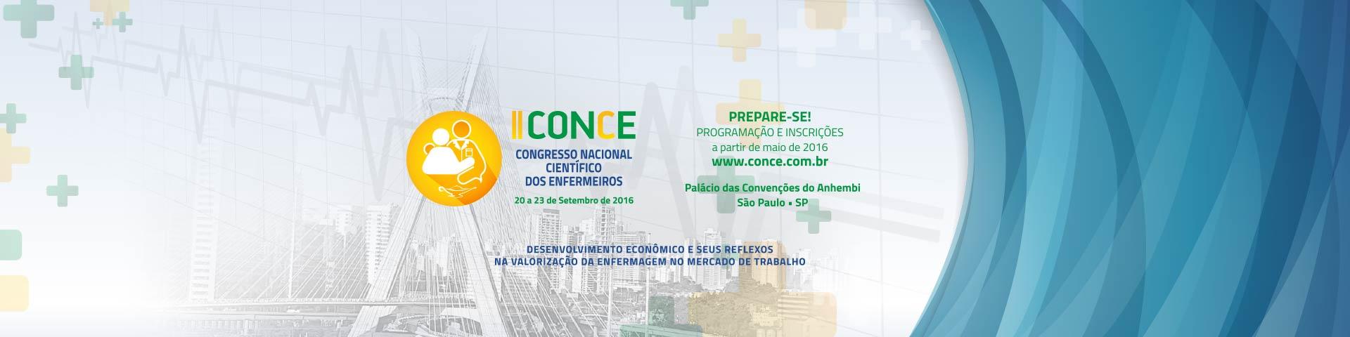 II CONCE - Congresso Nacional Científico dos Enfermeiros